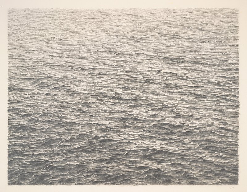 Vija Celmins, Untitled (Ocean), 1977