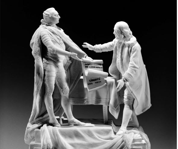 Charles-Gabriel Sauvage, called Lemire pere (1741–1827). Figure of Louis XVI and Benjamin Franklin, 1780–85.