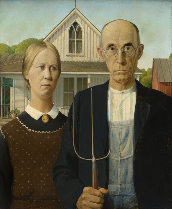 Grant Wood (1891–1942), American Gothic, 1930.