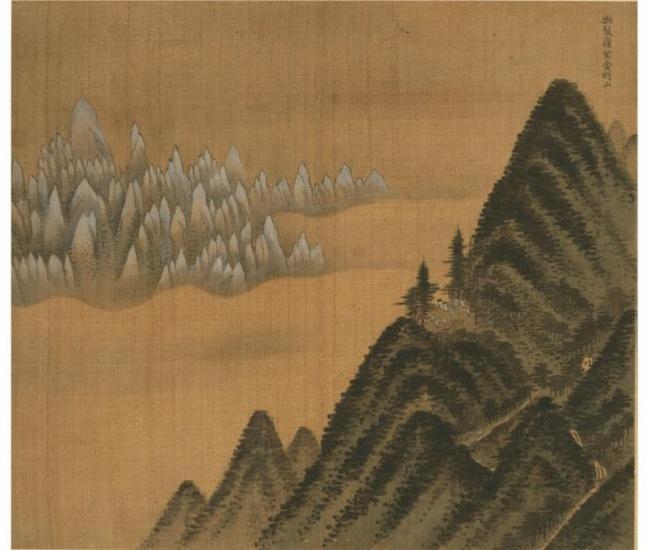 Jeong Seon. Mount Geumgang Viewed from Danbal Ridge,