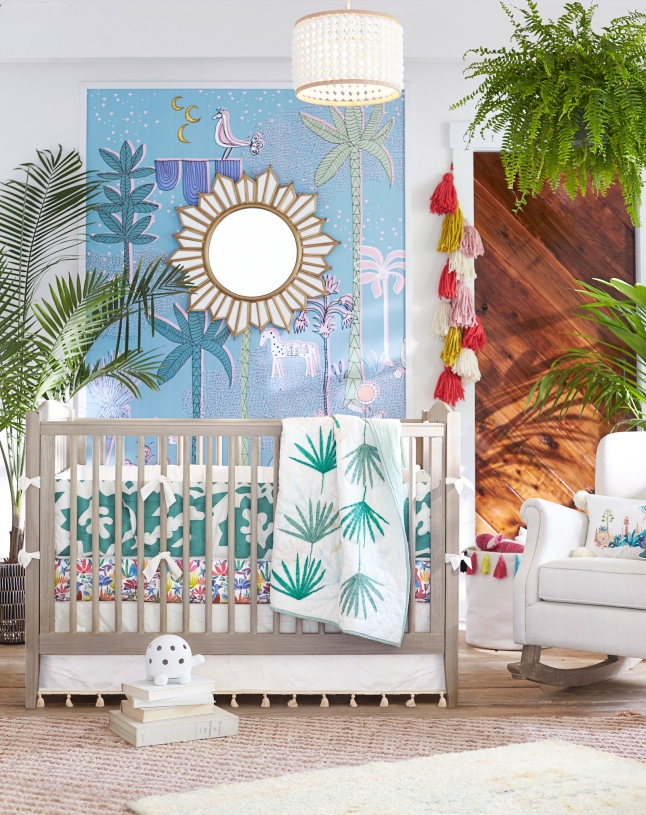 Jungalino Nursery in the Justina Blakeney for Pottery Barn Kids Collection.