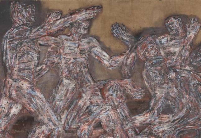 Leon Golub (American, 1922–2004). Gigantomachy II (detail), 1966