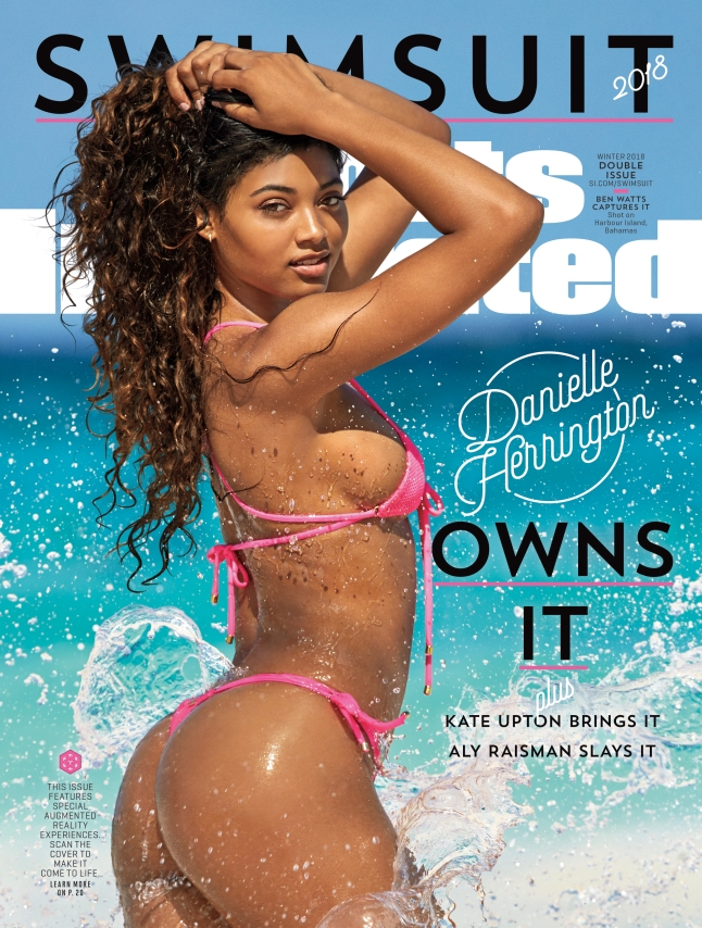 SI Swimsuit 2018 cover featuring Danielle Herrington. CREDIT Ben Watts-SPORTS ILLUSTRATED