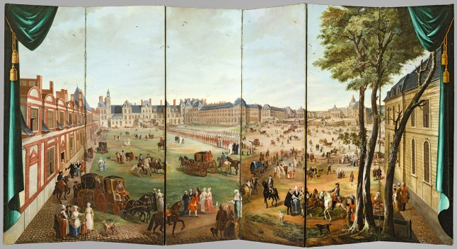 Folding Screen with Views of the Chateau de Versailles_Detail_300dpi