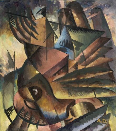 Birds in Flight, c. 1927-1929, by Aaron Douglas