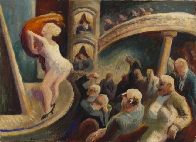 Burlesque, c. 1922, by Thomas Hart Benton