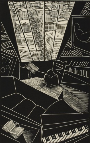 Of a Great City, 1923, by Wharton H. Esherick