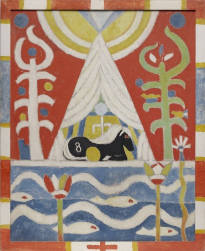 Painting No. 4 (A Black Horse), 1915, by Marsden Hartley