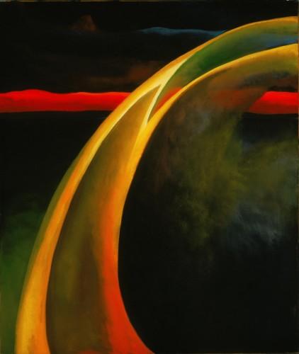 Red and Orange Streak, 1919, by Georgia O'Keeffe