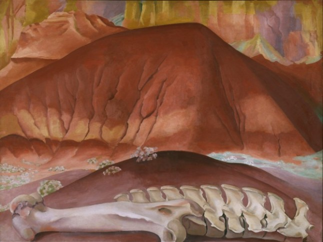 Red Hills and Bones, 1943, by Georgia O'Keeffe
