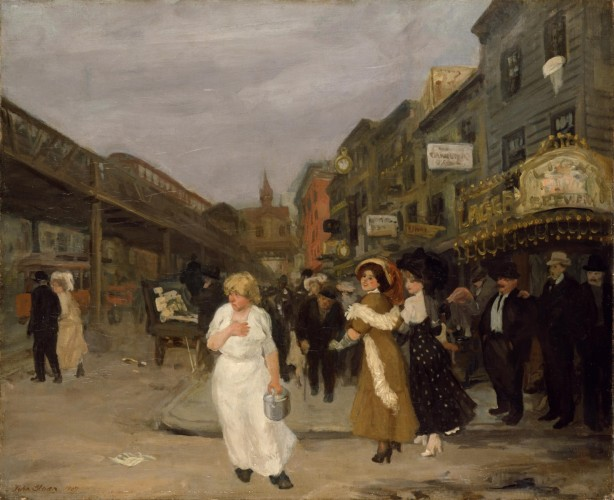Sixth Avenue and Thirtieth Street, 1907, by John Sloan