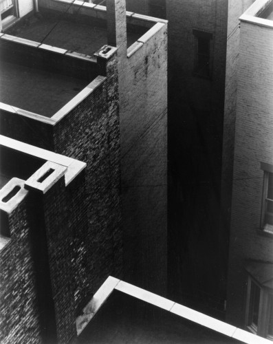 The Court, New York, 1924 (negative); 1960s (print), by Paul Strand