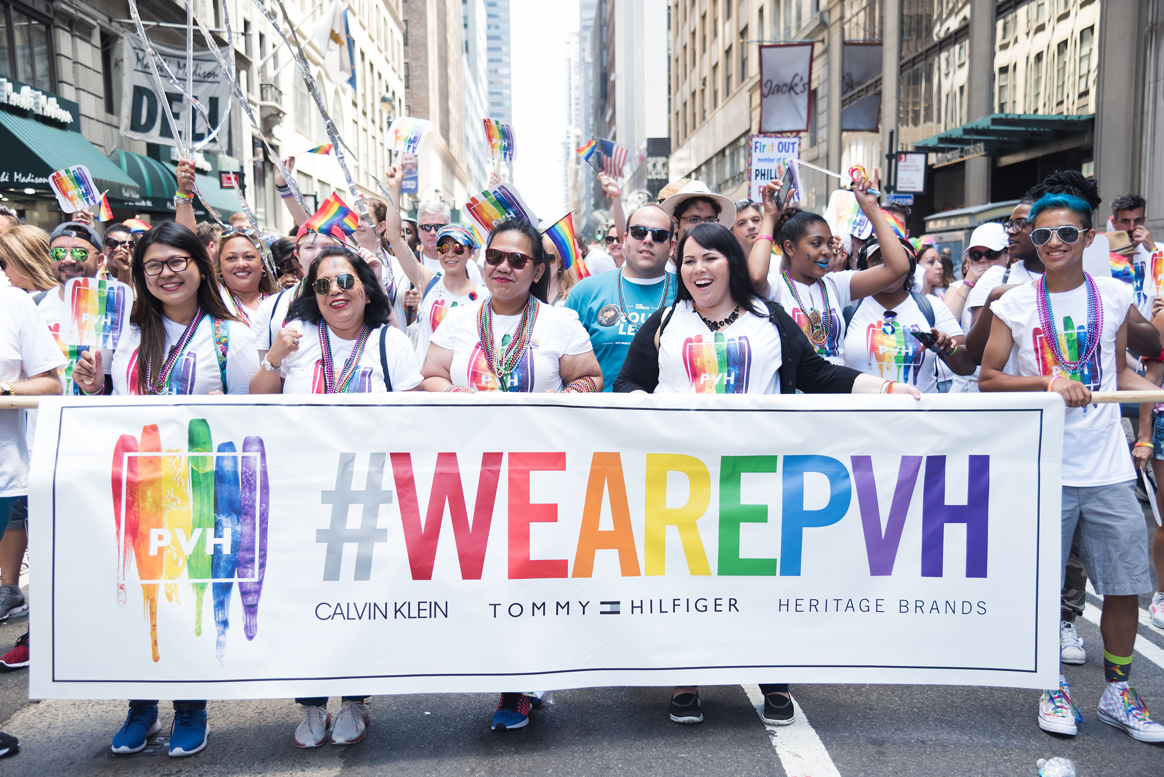 PVH at the NYC Pride March 2017 (Photo Business Wire)