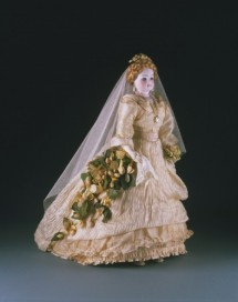 """Miss French Mary"" Fashion Doll, around 1875, France. Gift of Mrs. James Wilson Wister, née Elizabeth Bayard Dunn, 1970-215-1a."