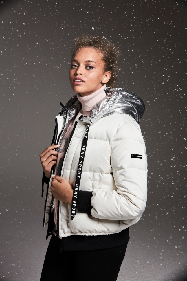 Cold weather essentials make the perfect gift from Macy_s this holiday season; DKNY bold logo puffer jacket, $169