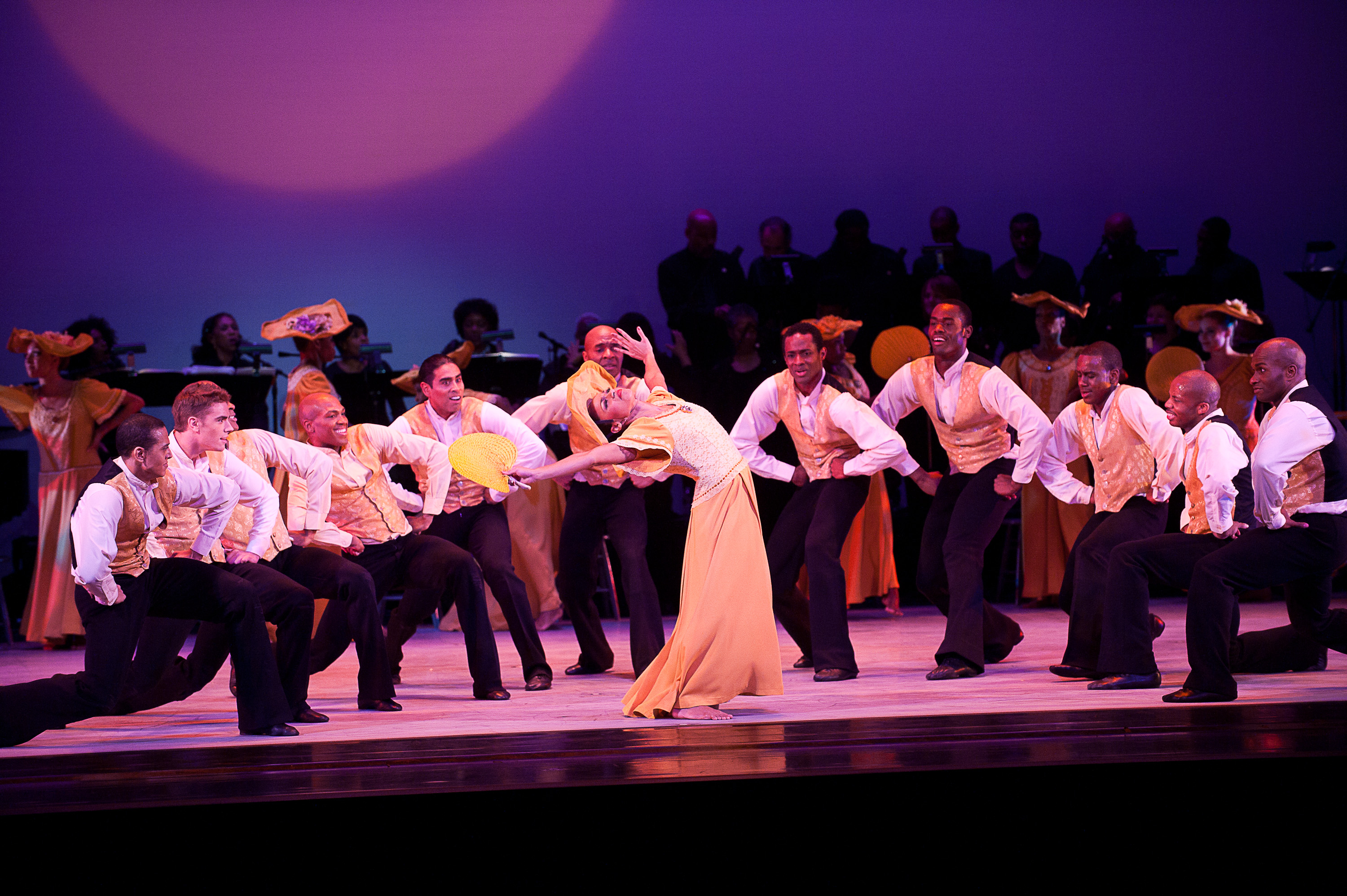 CREDIT_ Photo by Christopher Duggan. CAPTION_ AAADT with live onstage music in Alvin Ailey's Revelations