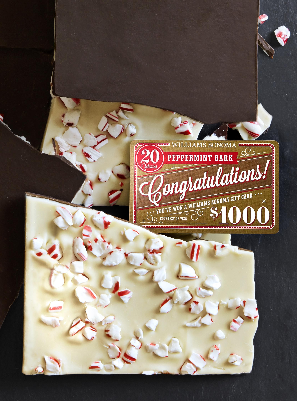1. Williams Sonoma Peppermint Bark Golden Gift Card