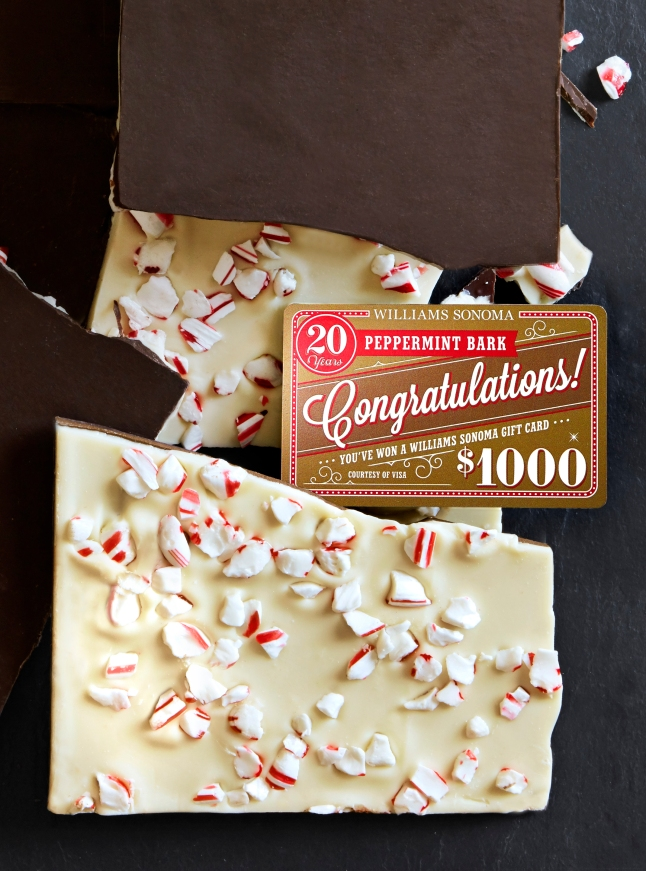 1. Williams Sonoma Peppermint Bark Golden Gift Card