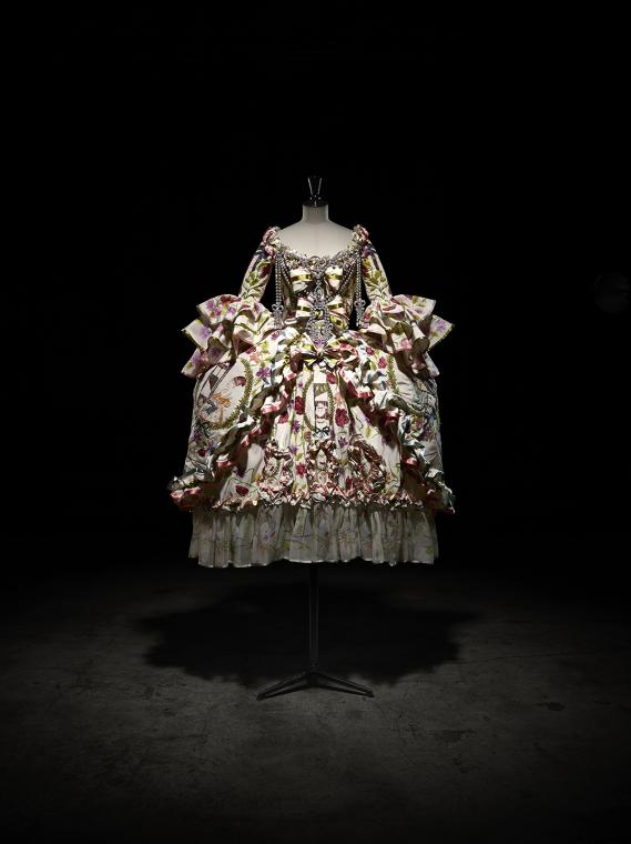 Image 7 - John Galliano for Christian Dior, Embroidered faille dress