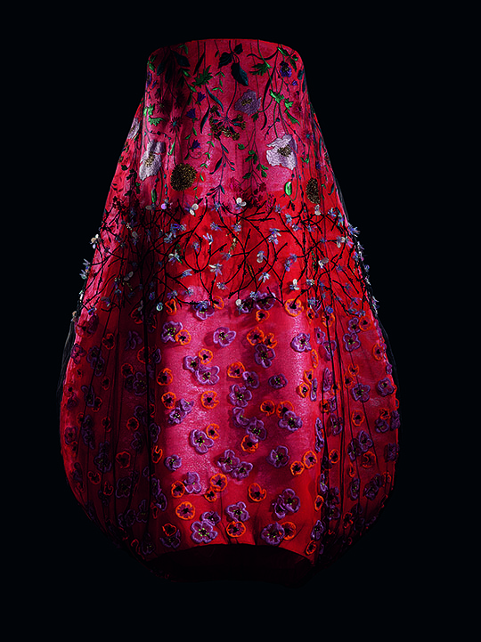 Image 9 - Raf Simons for Christian Dior, Embroidered tulle and silk evening gown.