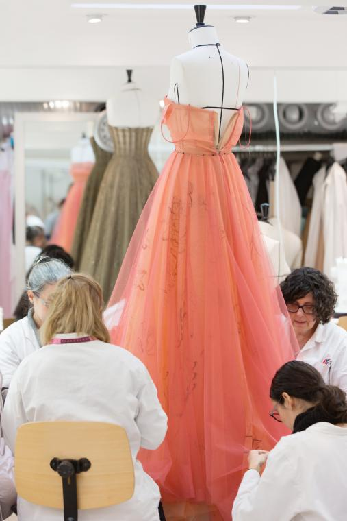 Inside the House of Dior ateliers, preparation for the Spring-Summer 2017 Haute Couture collection, Maria Grazia Chiuri for Christian Dior. ©Sophie Carre.