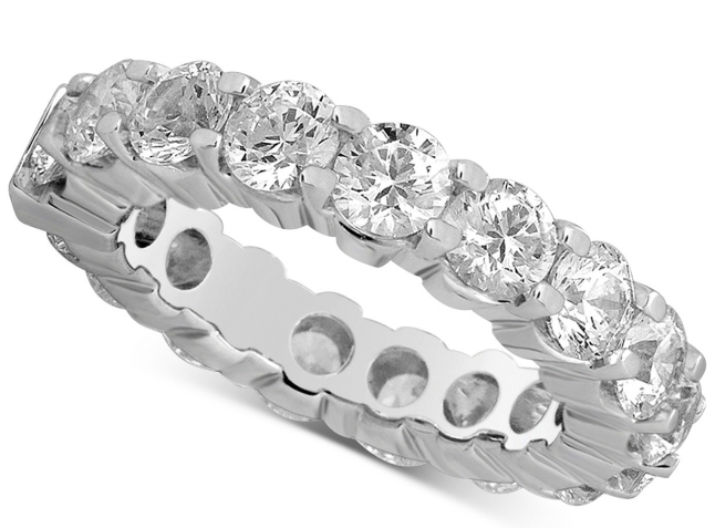 Macy's Diamond Eternity Band (5 ct. t.w.) in 14k White Gold