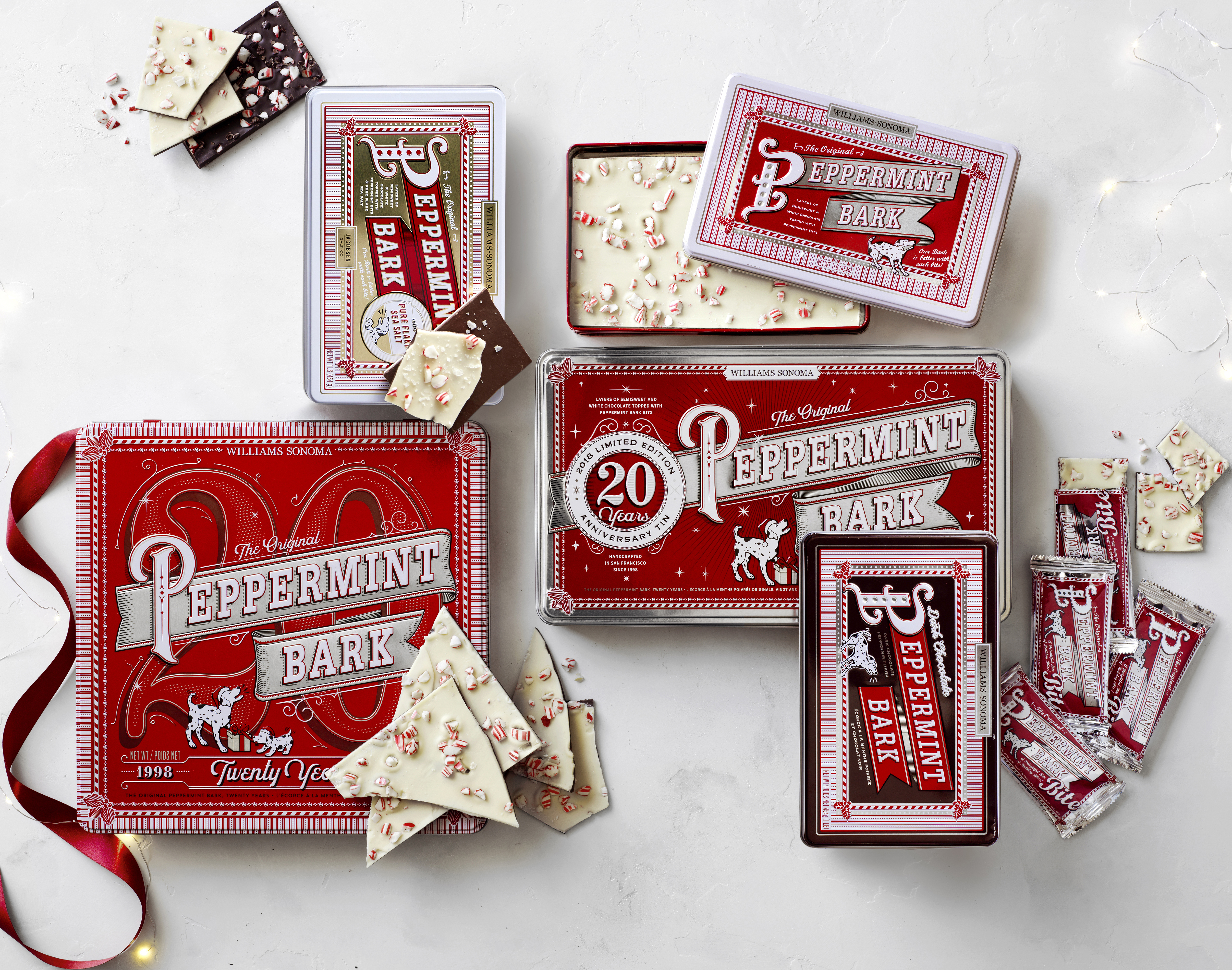 Williams Sonoma celebrates 20 years of iconic Peppermint Bark holiday confection (Photo Business Wire)